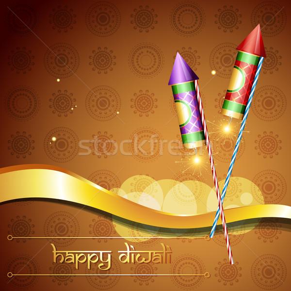 diwali festival cracker Stock photo © Pinnacleanimates