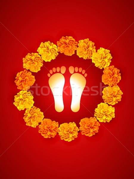 ногу впечатление вектора Бога дизайна счастливым Сток-фото © Pinnacleanimates