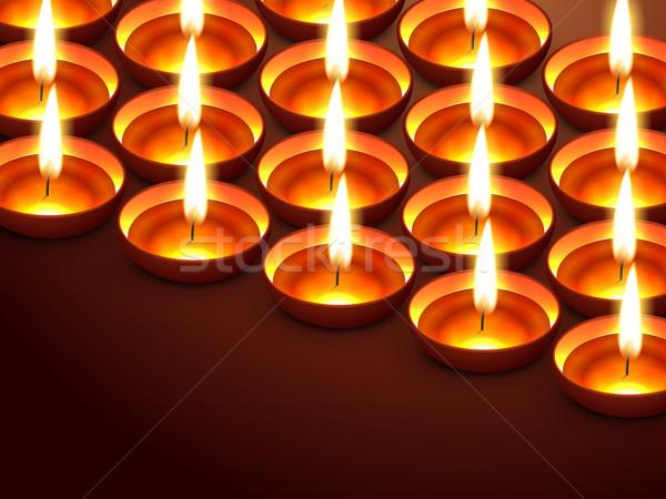 Hermosa diwali espacio feliz luz lámpara Foto stock © Pinnacleanimates