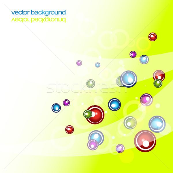 circles shiny abstract vector colorful artwork Stock photo © Pinnacleanimates