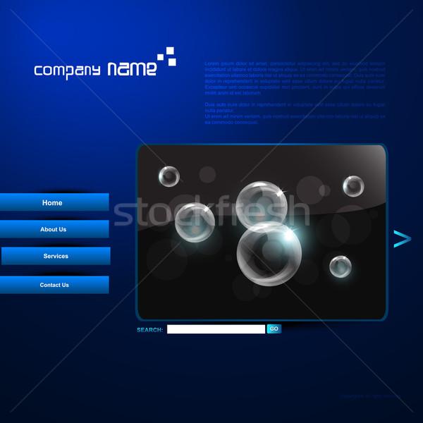 Сток-фото: вектора · веб · шаблон · дизайна · воды