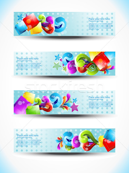 vector header design Stock photo © Pinnacleanimates