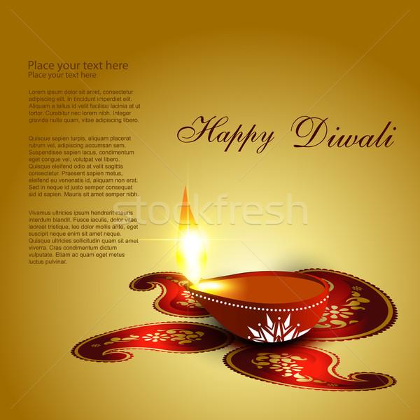 Stock photo: diwali background
