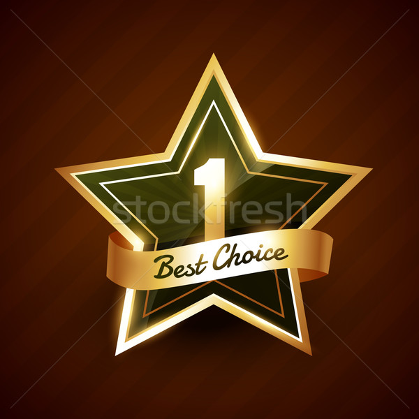 Stockfoto: Geen · gouden · label · badge · vector