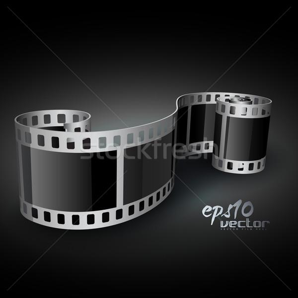 Vektor filmszalag valósághű 3D művészet űr Stock fotó © Pinnacleanimates