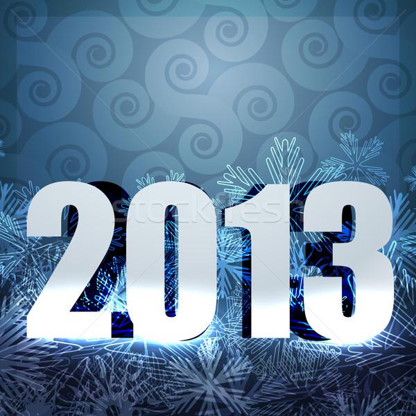 2013 nieuwjaar ontwerp stijlvol gelukkig nieuwjaar vector Stockfoto © Pinnacleanimates