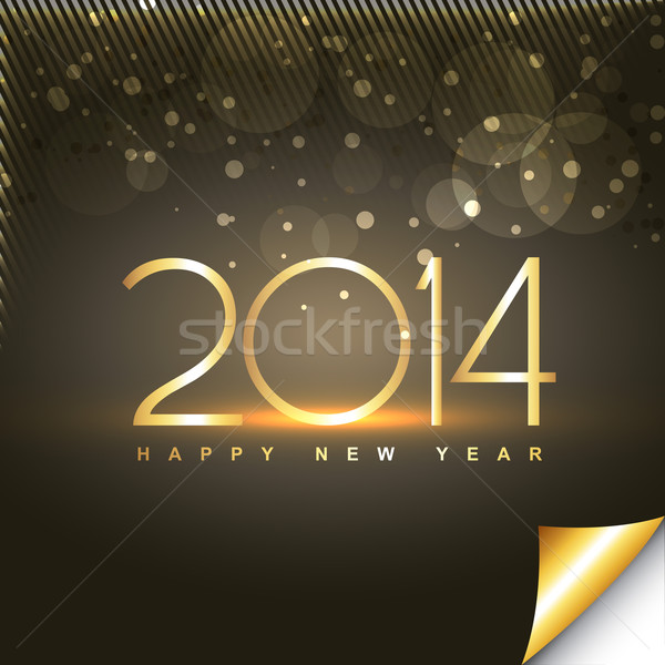shiny happy new year greeting Stock photo © Pinnacleanimates