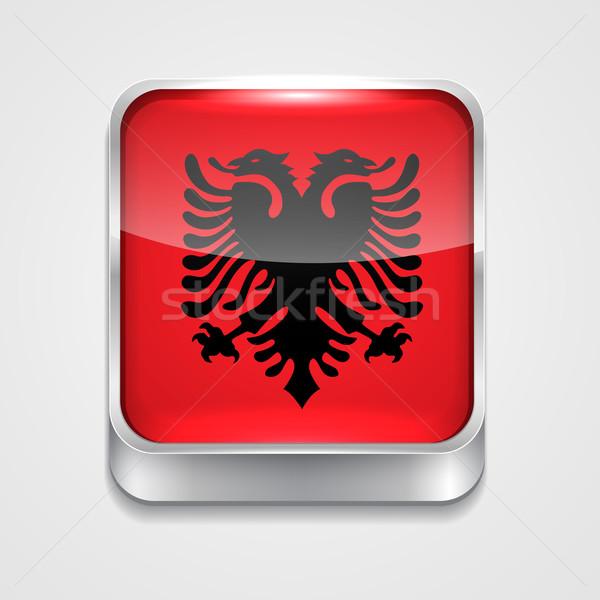 Bandera Albania vector 3D estilo icono Foto stock © Pinnacleanimates