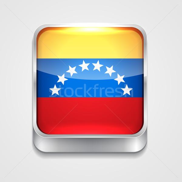 Zászló Venezuela vektor 3D stílus ikon Stock fotó © Pinnacleanimates