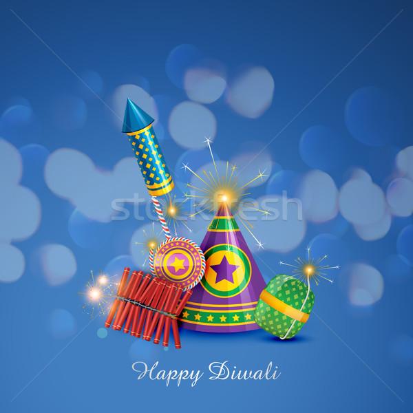 Diwali Design Vektor Illustration glücklich Licht Stock foto © Pinnacleanimates