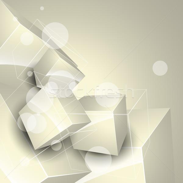 Vettore scatole 3D stile design arte Foto d'archivio © Pinnacleanimates