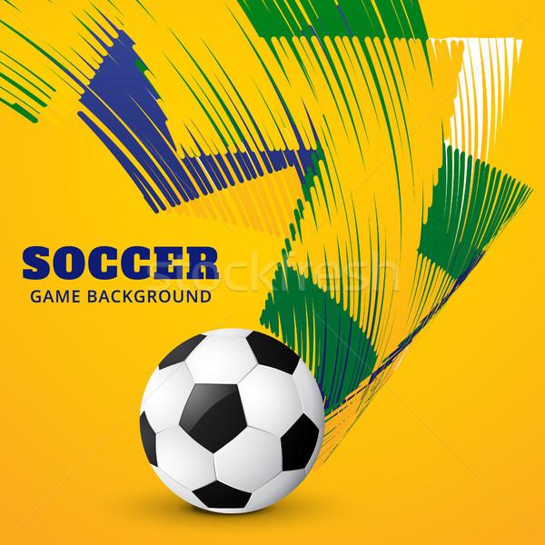 Vetor jogo de futebol criador colorido projeto futebol Foto stock © Pinnacleanimates