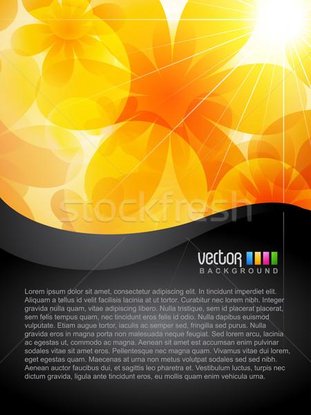 Stok fotoğraf: Vektör · çiçek · güzel · turuncu · renk · dizayn