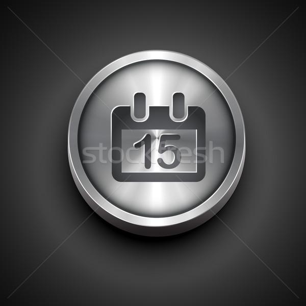 metallic calendar icon Stock photo © Pinnacleanimates