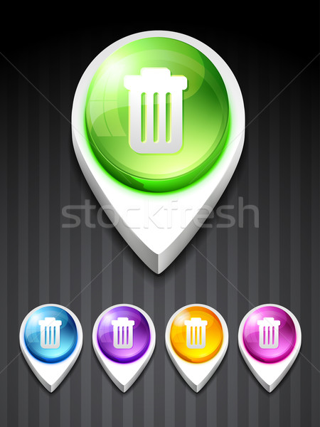 vector dustbin icon Stock photo © Pinnacleanimates