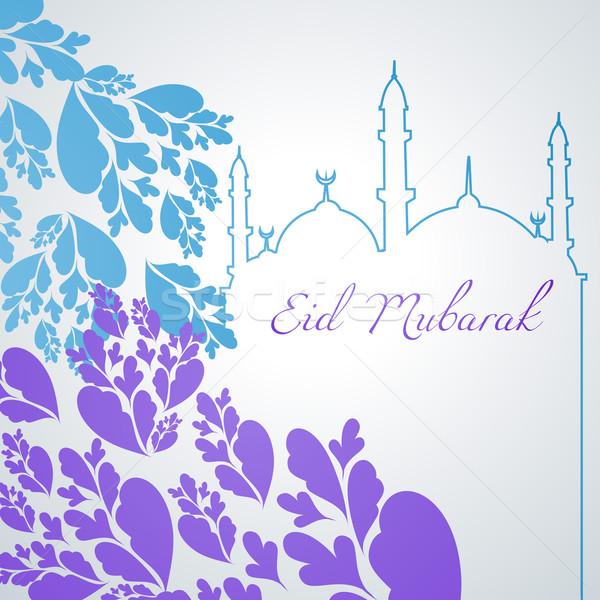 colorful eid mubarak design Stock photo © Pinnacleanimates