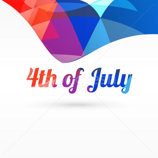 4th of july vector design Stock photo © Pinnacleanimates