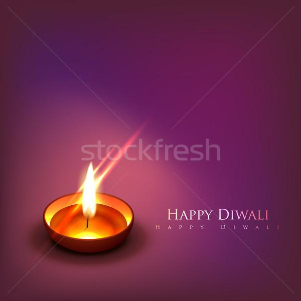 Hermosa diwali vector feliz luz diseno Foto stock © Pinnacleanimates