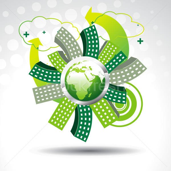 vector green earth Stock photo © Pinnacleanimates