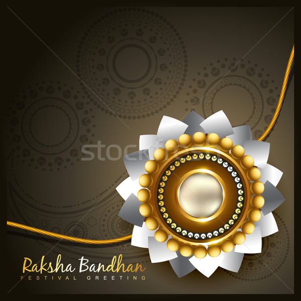 vector rakhi background Stock photo © Pinnacleanimates