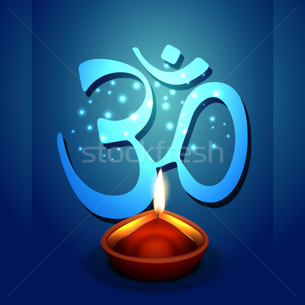 diwali diya with om symbol Stock photo © Pinnacleanimates