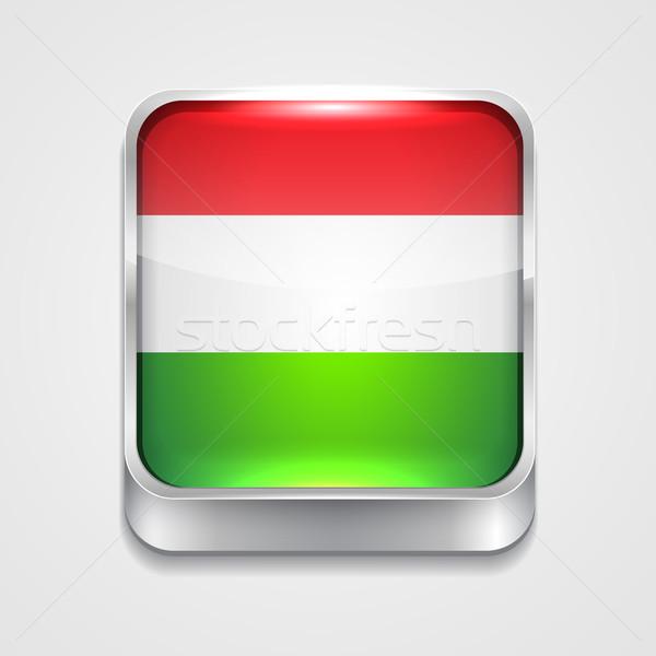 Bandeira Hungria vetor 3D estilo ícone Foto stock © Pinnacleanimates