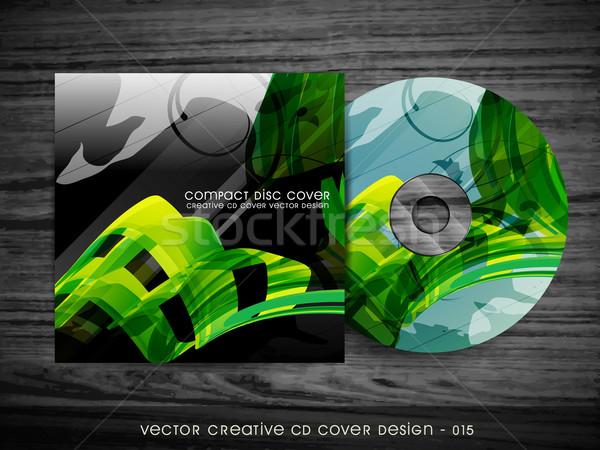 волна стиль компакт-диск охватывать аннотация вектора Сток-фото © Pinnacleanimates