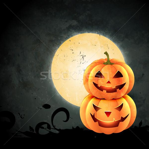 Raccapricciante halloween design grunge stile illustrazione Foto d'archivio © Pinnacleanimates