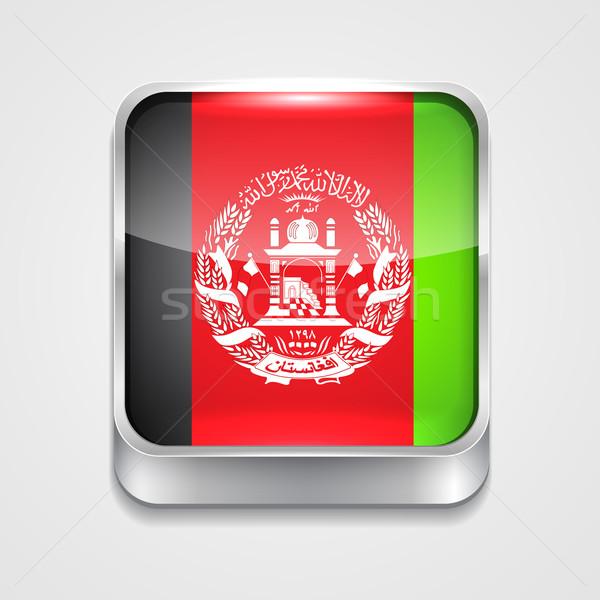 флаг Афганистан вектора 3D стиль икона Сток-фото © Pinnacleanimates