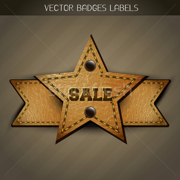 sale leather label design Stock photo © Pinnacleanimates