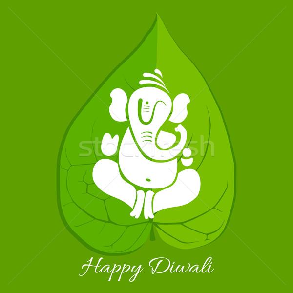 Stock photo: beautiful background of diwali