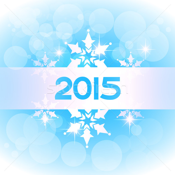 vector elegant 2015 new year on blue theme Stock photo © Pinnacleanimates