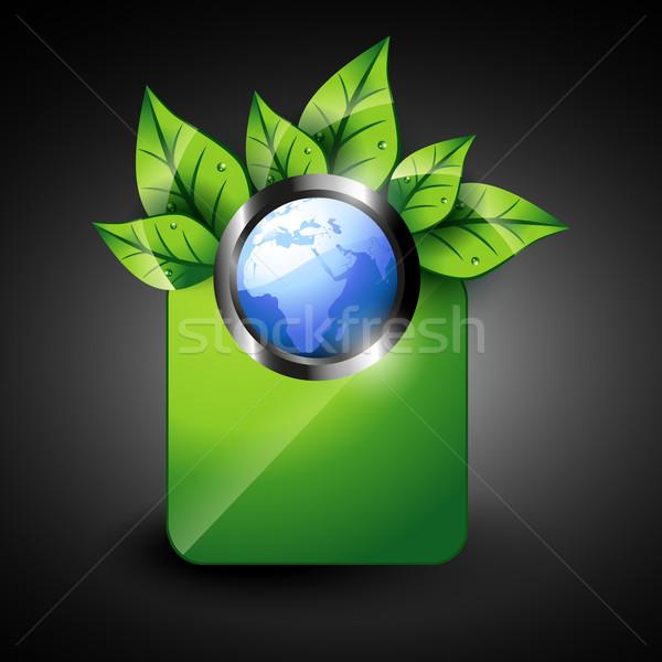 Eco ziemi wektora stylu Pokaż streszczenie Zdjęcia stock © Pinnacleanimates
