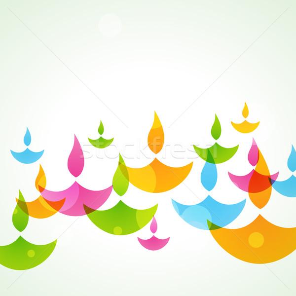 Colorido diwali hermosa elegante vector feliz Foto stock © Pinnacleanimates
