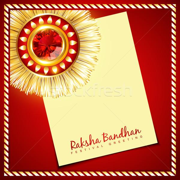 shiny rakhi vector Stock photo © Pinnacleanimates