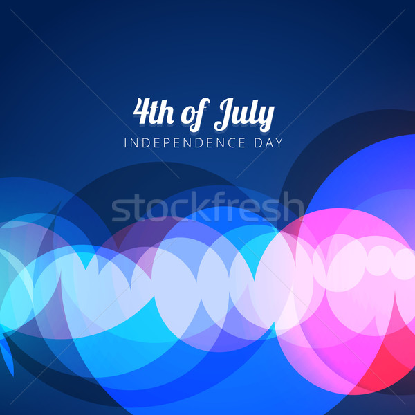 vector abstract 4th of july Stock photo © Pinnacleanimates