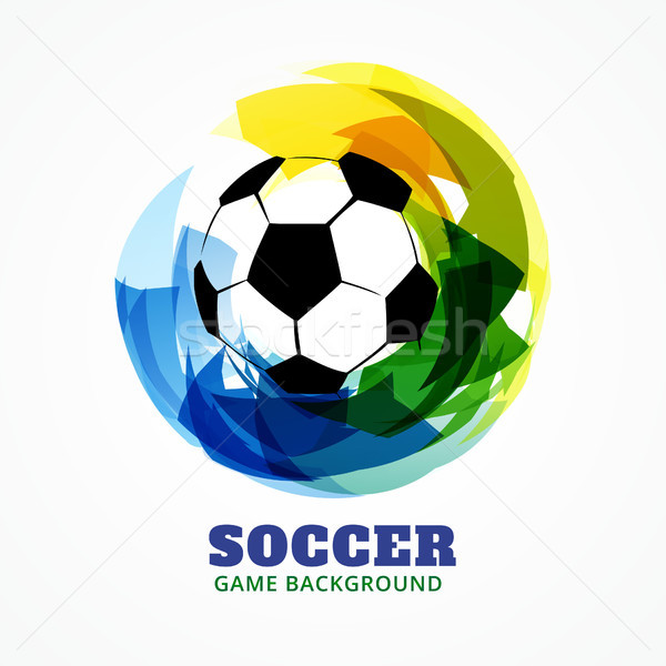 Abstract voetbal spel ontwerp stijl Stockfoto © Pinnacleanimates