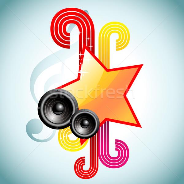 Vektor zene színes csillag illusztráció buli Stock fotó © Pinnacleanimates