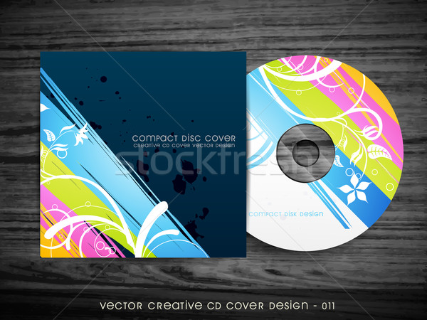 colorful cd cover design Stock photo © Pinnacleanimates
