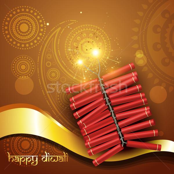 Stock photo: artistic diwali crackers