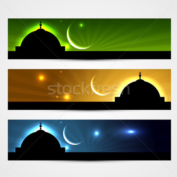ramadan and eid headers Stock photo © Pinnacleanimates
