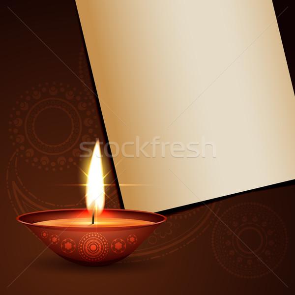 diwali festival greeting Stock photo © Pinnacleanimates