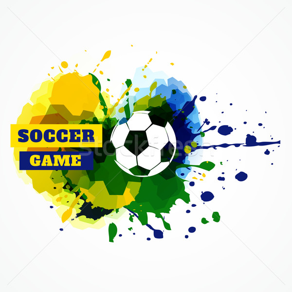 Football Splash vecteur design illustration football Photo stock © Pinnacleanimates