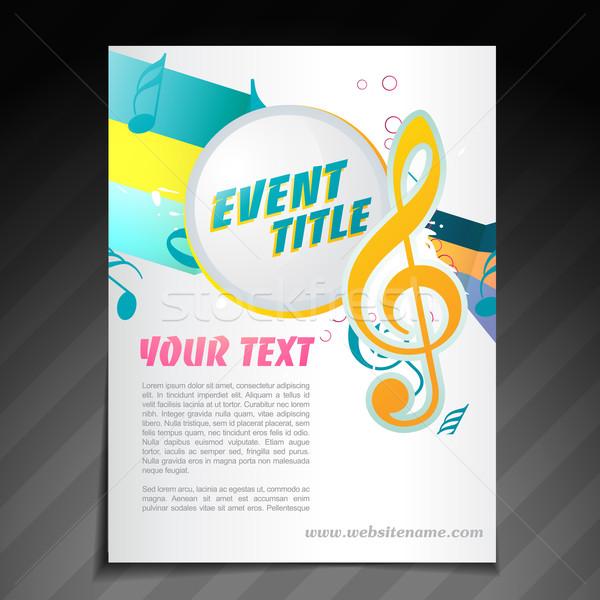 Música folheto projeto vetor evento aviador Foto stock © Pinnacleanimates
