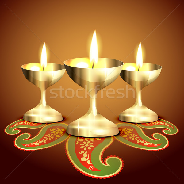 indian worship lamp Stock photo © Pinnacleanimates
