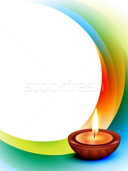 Diwali ola vector estilo feliz luz Foto stock © Pinnacleanimates