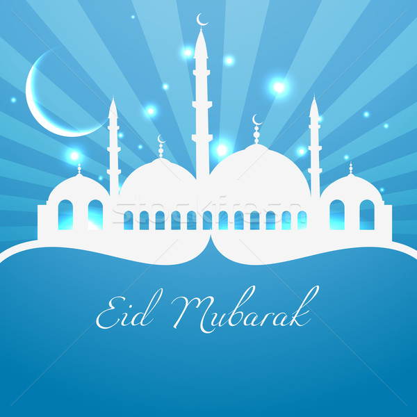 İslamiyet din festival dizayn arka plan yeşil Stok fotoğraf © Pinnacleanimates