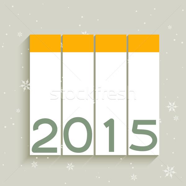 2015 vettore design verticale felice arte Foto d'archivio © Pinnacleanimates