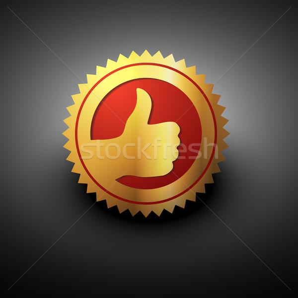 Altın en İyi seçim etiket renk el imzalamak Stok fotoğraf © Pinnacleanimates