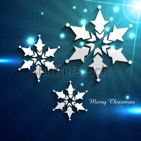 vector snow flakes Stock photo © Pinnacleanimates